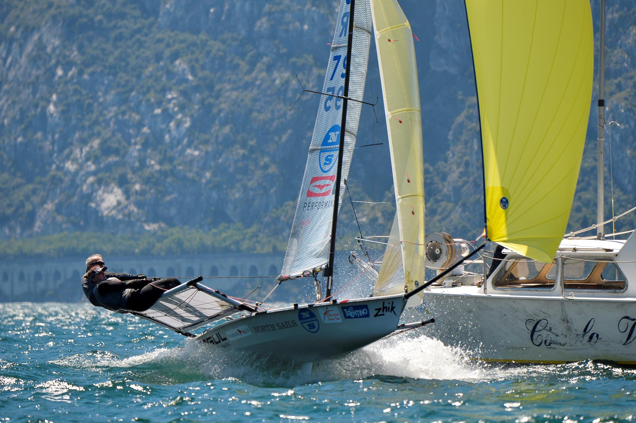 Seavolution B14 795 Blasting downwind at Garda worlds 2016